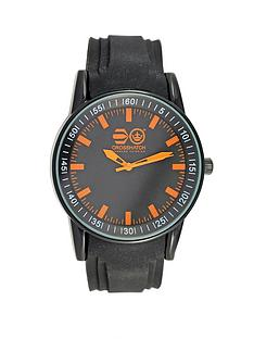 crosshatch-black-face-with-orange-highlights-black-strap-mens-watch