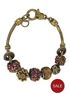 gold-tone-multi-bead-with-crystal-charm-bracelet