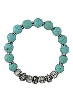 turquoise-bead-and-crystal-stretch-bracelet
