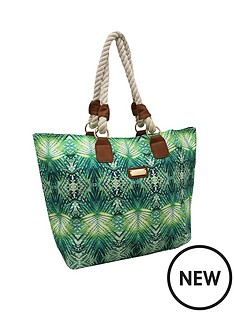 kangol-beach-bag-tropical-green-print
