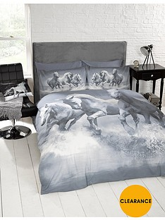 cascade-home-galloping-horses-duvet-cover-set-grey