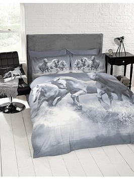 cascade-home-galloping-horses-duvet-cover-set-grey