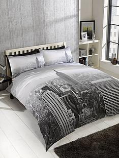 cascade-home-modern-city-double-duvet-set-grey