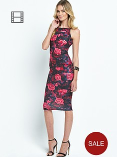 ax-paris-scuba-print-strappy-midi-dress