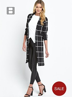 ax-paris-lightweight-grid-duster-jacket