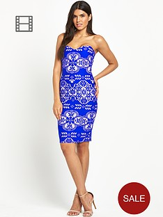 lipsy-bonded-lace-bandeau-dress
