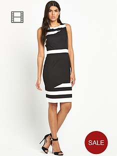 paper-dolls-black-and-white-stripe-bodycon-dress