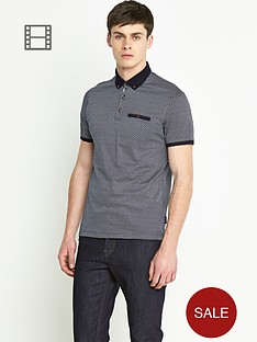 ted-baker-mens-short-sleeve-spot-printed-polo-shirt