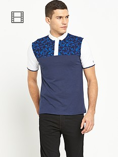 original-penguin-mens-cut-and-sew-leaf-print-polo-shirt