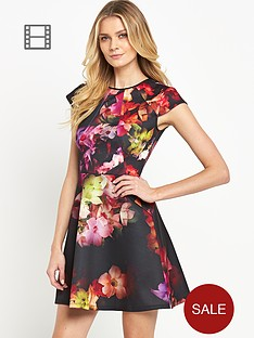 ted-baker-cascading-floral-skater-dress