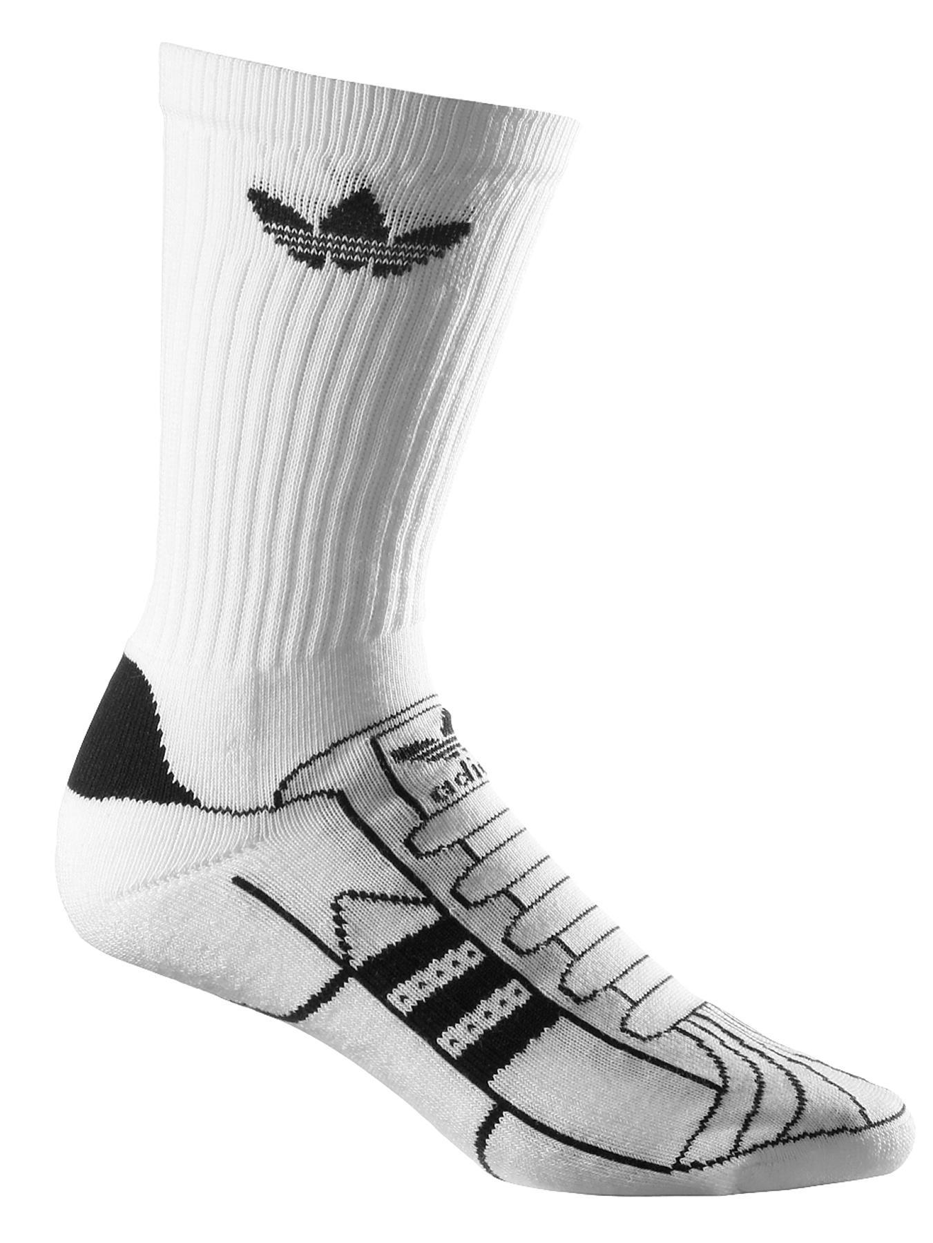 Mens Superstar Socks, White at Littlewoods