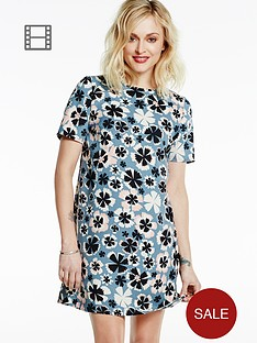 fearne-cotton-graphic-floral-swing-dress