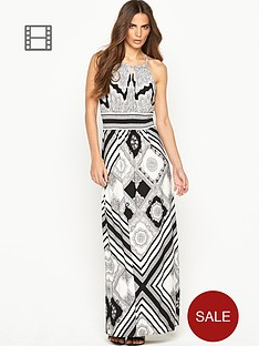 wallis-mono-scarf-print-maxi-dress