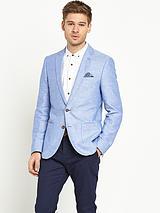 Mens Slim Linen Mix Jacket
