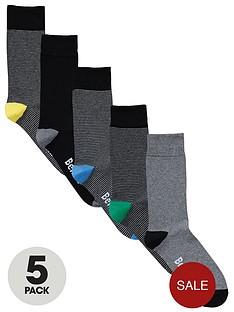 bench-mens-stripeplain-socks-5-pack
