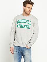 Mens Arch Logo Crew Sweatshirt