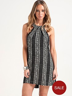 lauren-pope-aztec-halter-neck-swing-dress