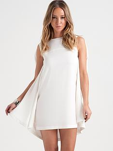 lauren-pope-white-cape-dress