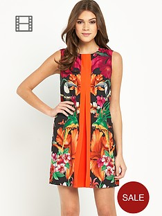 ted-baker-tropical-pleat-tunic-dress