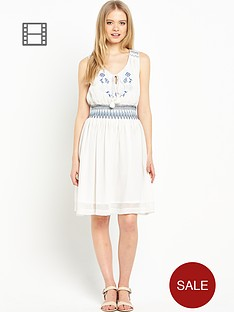 miss-selfridge-shirred-waist-dress