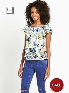 definitions-print-ruffle-frill-top