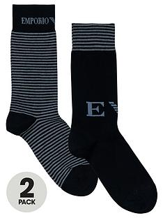 emporio-armani-mens-plainstriped-socks-2-pack