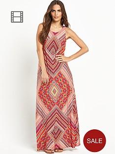 wallis-tribal-print-maxi-dress