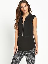 Chain Collar Sleeveless Shirt