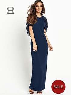 wallis-ink-cape-maxi-dress