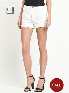 miss-selfridge-distressed-shorts