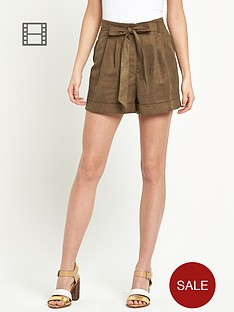 miss-selfridge-suedette-shorts