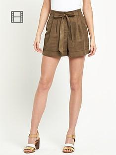 miss-selfridge-suedette-shorts