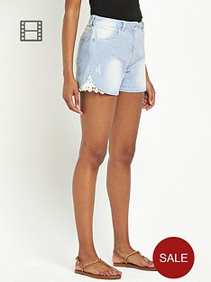 south-crochet-detail-denim-shorts-stone-wash