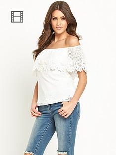 lipsy-michelle-keegan-scallop-lace-bardot-top