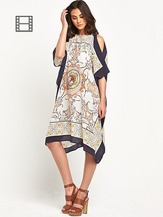 warehouse-scarf-print-silk-kaftan-dress