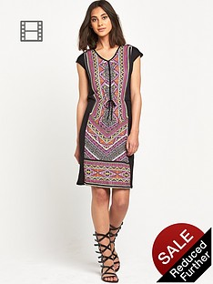 warehouse-aztec-print-t-shirt-dress