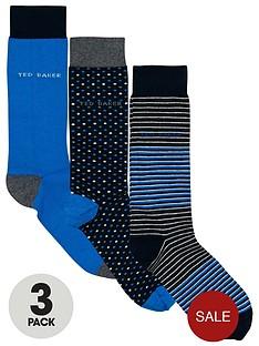 ted-baker-mens-socks-spotstripeplain-3-pack