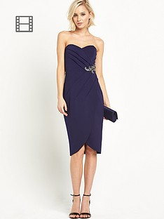 little-mistress-bandeau-embellished-waist-dress