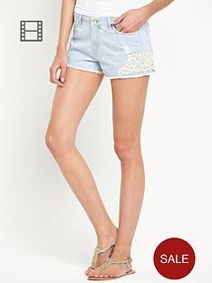 south-crochet-detail-denim-shorts