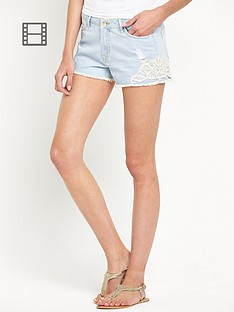 south-crochet-detail-denim-shorts