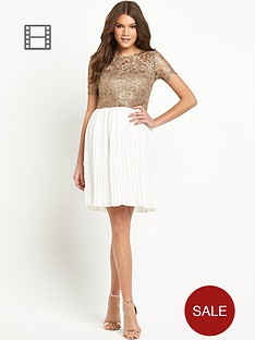 club-l-pleat-skirt-dress