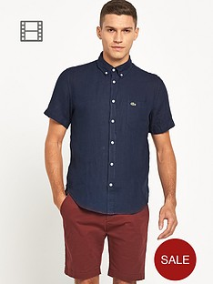 lacoste-mens-short-sleeved-linen-shirt