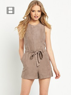 miss-selfridge-suedette-playsuit