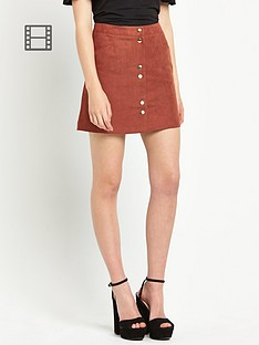 miss-selfridge-suedette-skirt