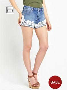 miss-selfridge-floral-crochet-shorts