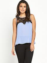Mesh Drape Back Top