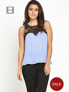 lipsy-mesh-drape-back-top