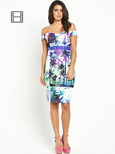 lipsy-palm-rib-bardot-dress
