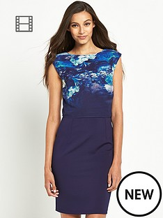little-mistress-two-tier-navy-floral-shift-dress