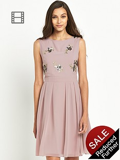 little-mistress-embellished-top-skater-dress